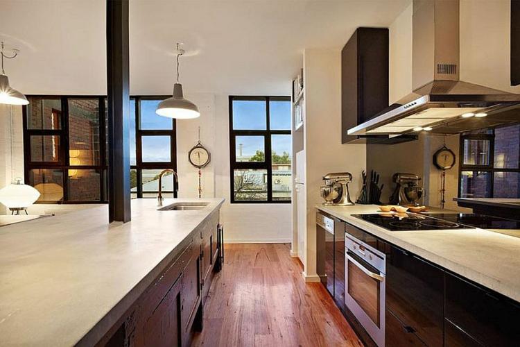 einrichtungstipps im industriestil wohnung in melbourne als beispiel. Black Bedroom Furniture Sets. Home Design Ideas