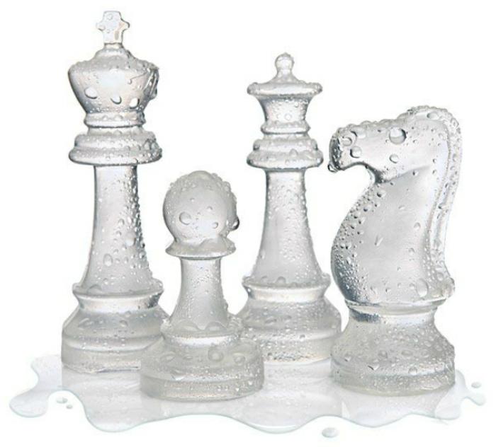 eiswürfel form eis schachfiguren