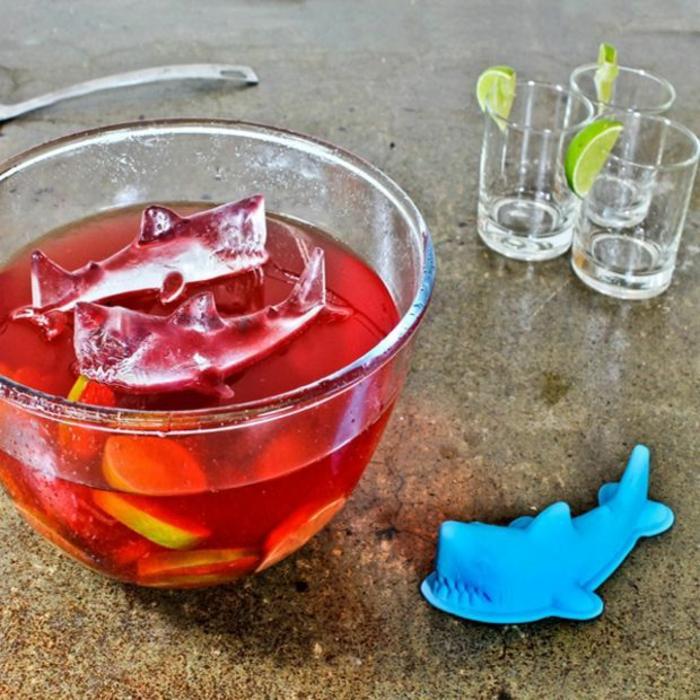 eiswürfel form eisdesign haifische