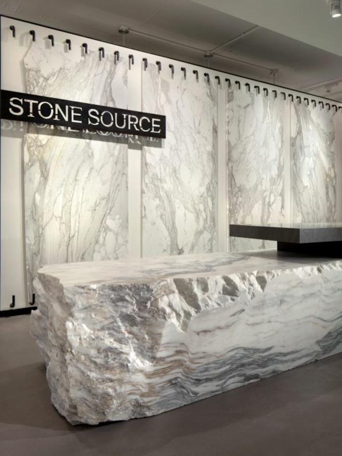 empfangstresen empfangstheke marmor steinblock