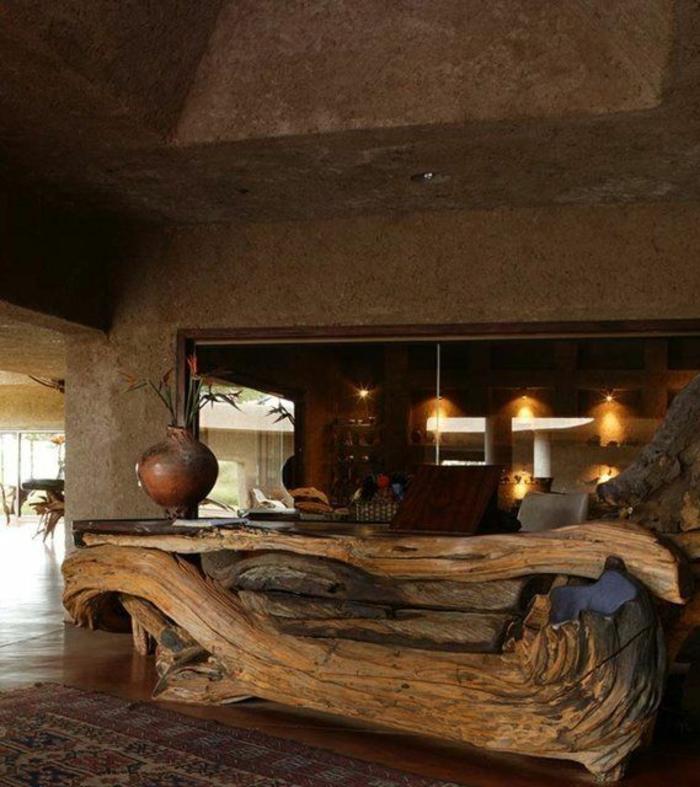 empfangstresen hotelempfang naturholz treibholz