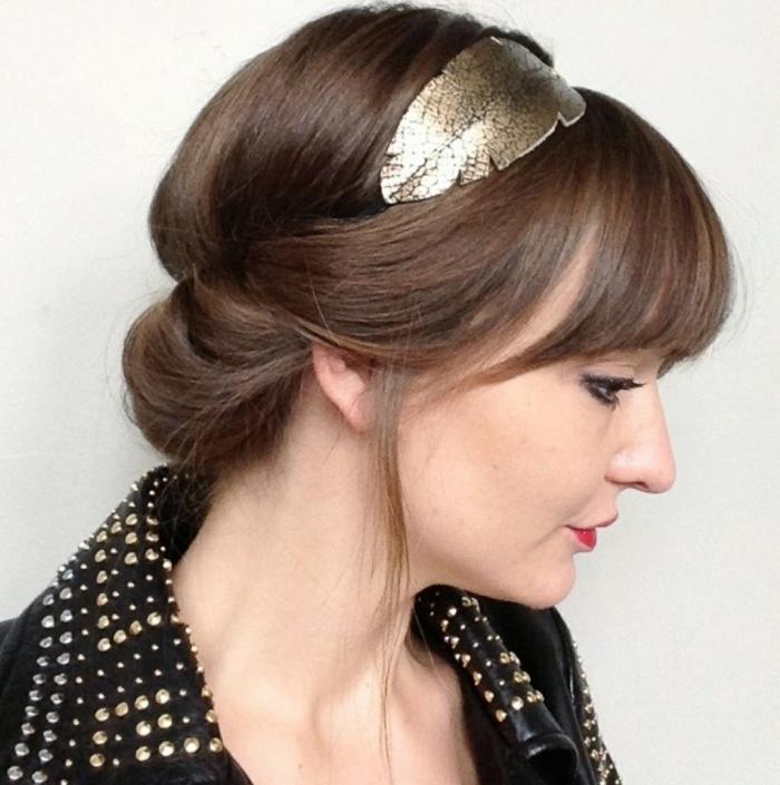 frauenfrisuren elegante frisur haarband haaraccessoires