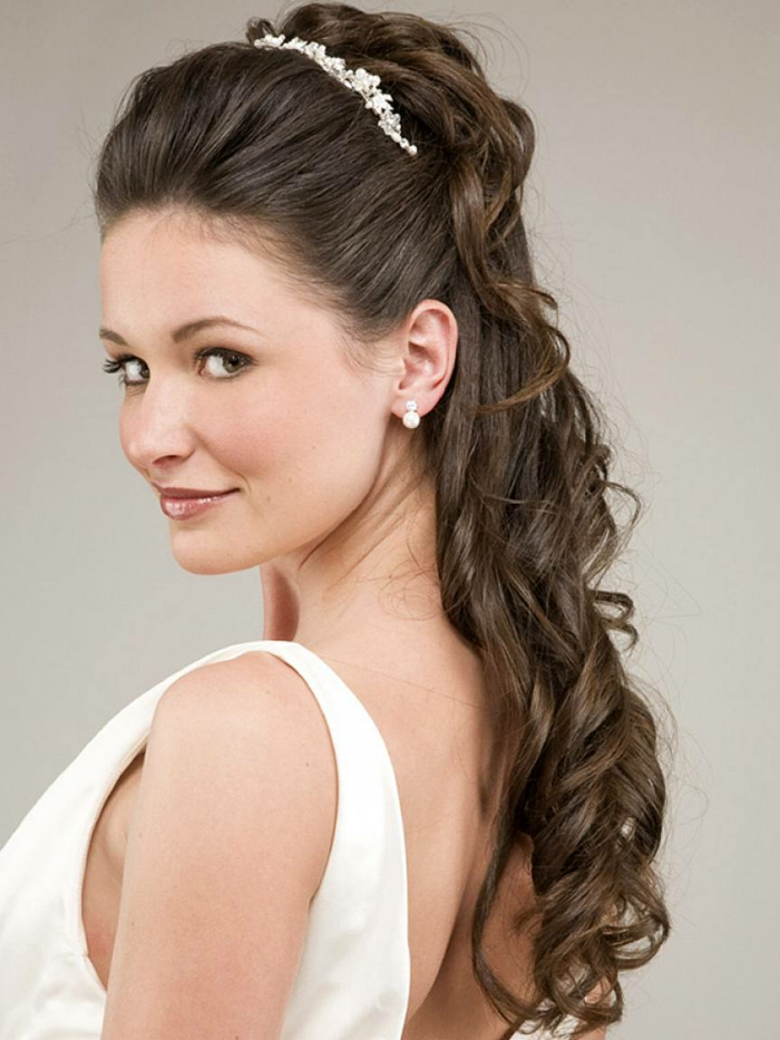 Bridal Hairstyle For Round Face Step By Step : Frisuren mit haarband inspirierende stilvolle ideen