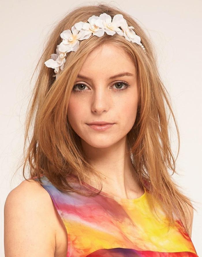 frisuren mit haarband frühling haaraccessoires