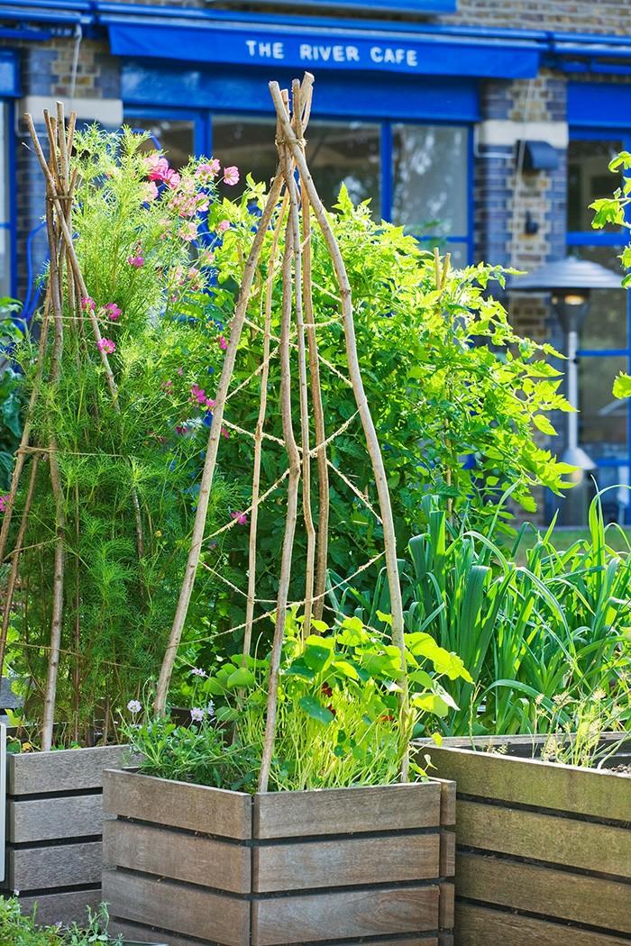 gartengestaltung ideen hölzerne pflanzenbehälter photo clive nichols