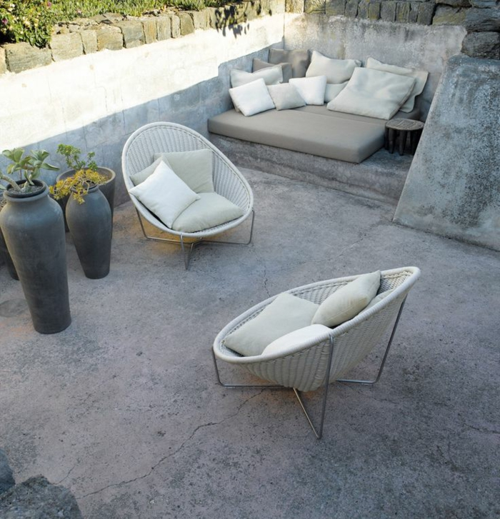 garten lounge möbel designer sessel rattan gartenmöbel