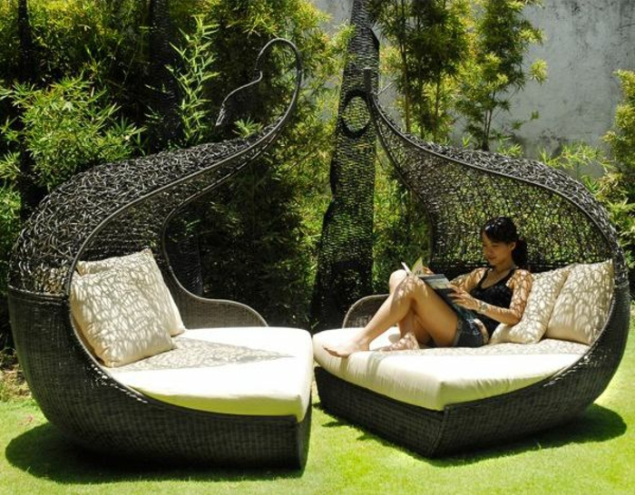 garten lounge möbel designer sessel rattan