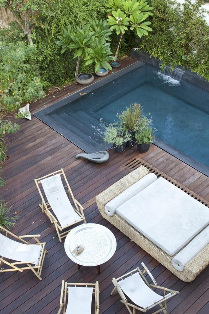 garten lounge möbel flechtmöbel am pool