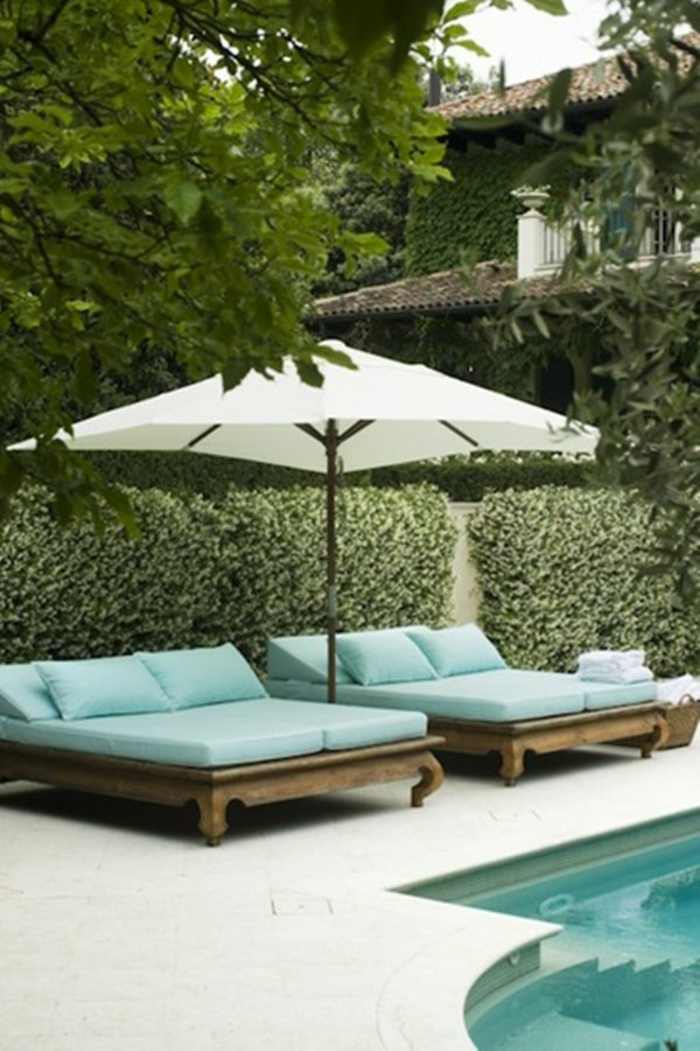 garten lounge möbel gartenmöbel liegen sonnenschirm