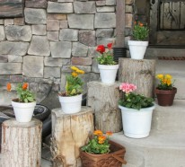 Garten Deko Ideen – Die Garten- oder Haustreppe mit Blumen dekorieren