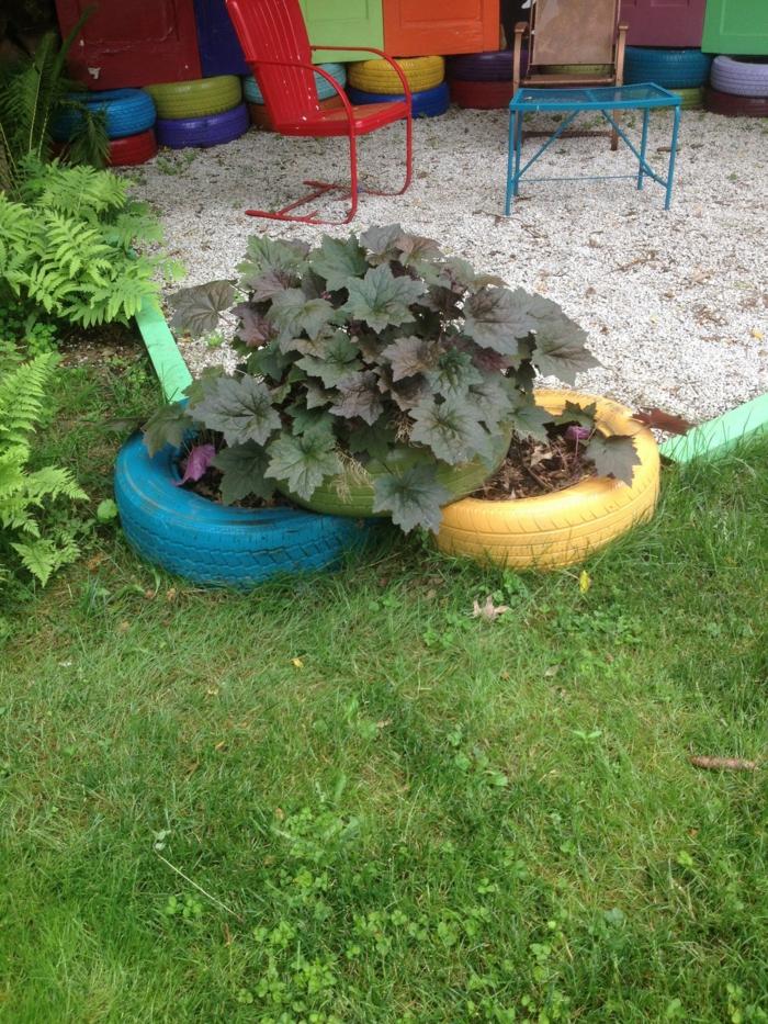 Gartendeko Selber Machen - Verwenden Sie Alte Autoreifen Wieder! Alte Autoreifen Deko