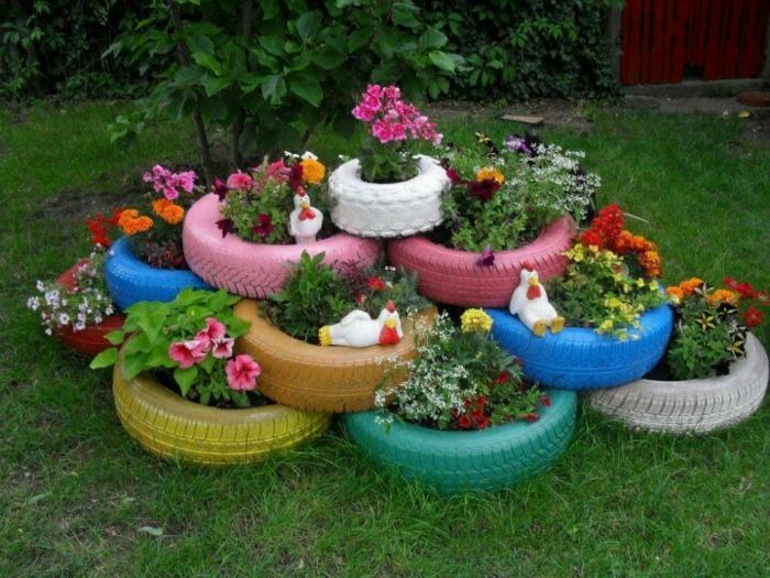 gartendeko aus autoreifen 3 – siteminsk, Garten ideen