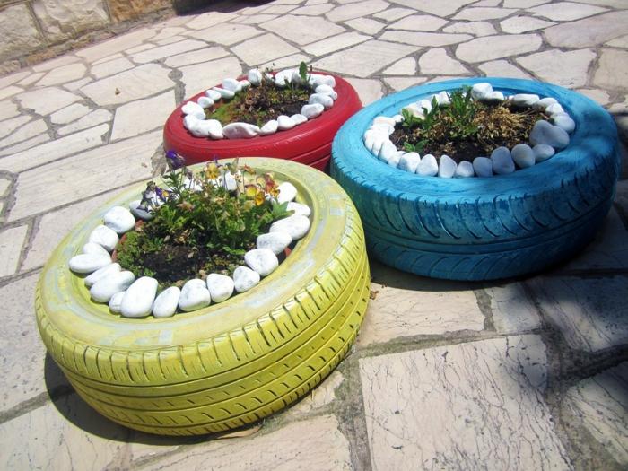 gartendeko selber machen - verwenden sie alte autoreifen wieder!, Garten und Bauten