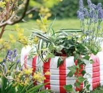 Gartendeko selber machen – Verwenden Sie alte Autoreifen wieder!