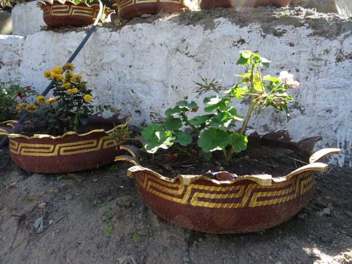 gartendeko selber machen - verwenden sie alte autoreifen wieder!, Garten ideen