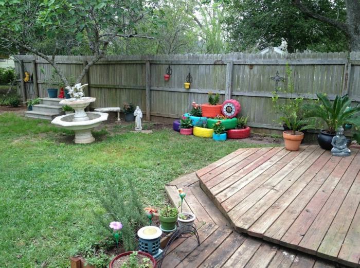 Gartendeko Selber Machen - Verwenden Sie Alte Autoreifen Wieder! Alte Autoreifen Ideen