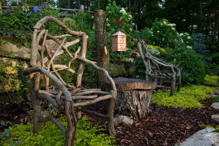naturholz im garten – bankroute,