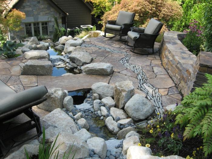 ▷ garten steine – eine gartengestaltung, so nah an der natur, Gartenarbeit ideen