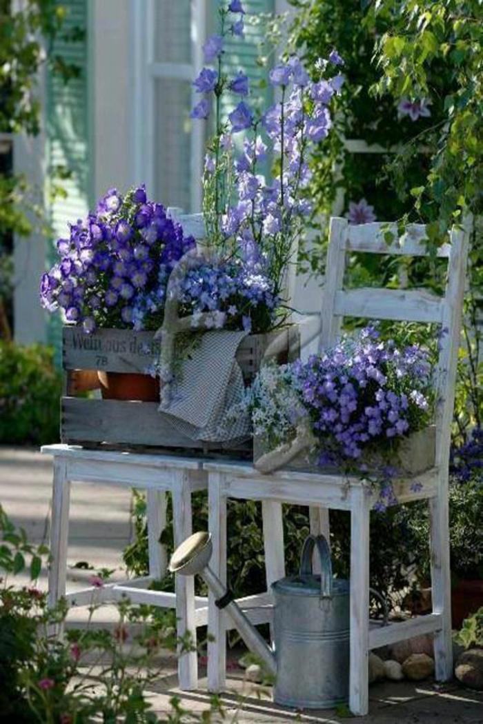 gartenideen gartendeko vintage stil coole pflanzenbehälter