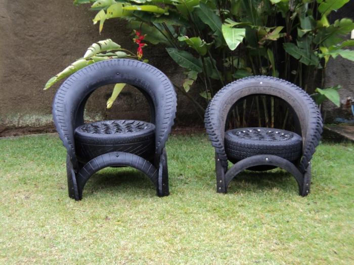 gartendeko selber machen verwenden sie alte autoreifen. Black Bedroom Furniture Sets. Home Design Ideas