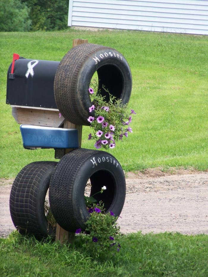 Gartendeko selber machen - Verwenden Sie alte Autoreifen ...