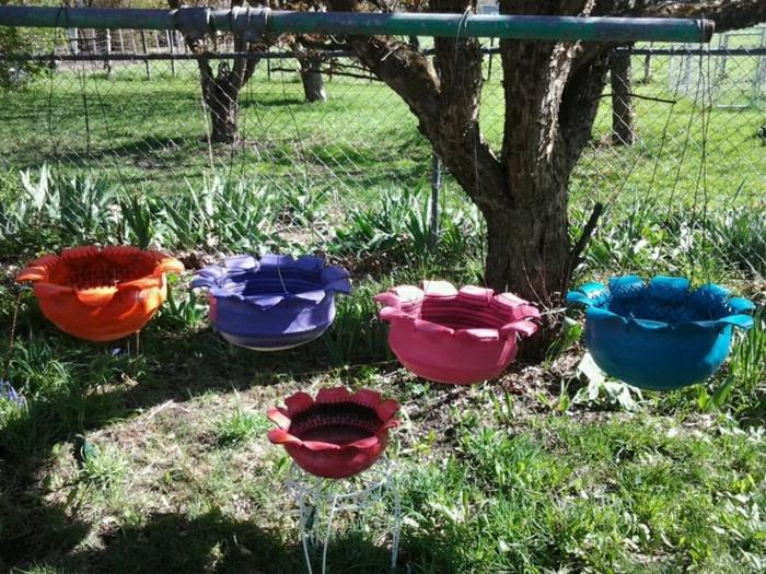 gartenideen zum selber machen coole pflanzenbehälter