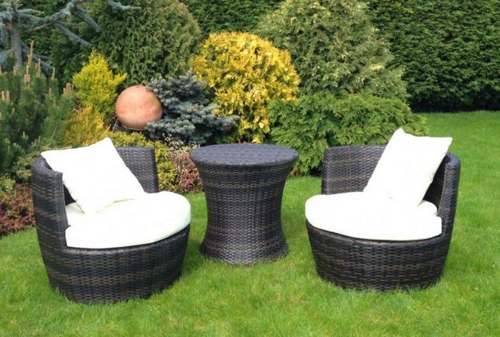 Gartenstühle rattan rund  Rattan Gartenmöbel - Reizvolle Außenmöbel für den Garten auswählen!
