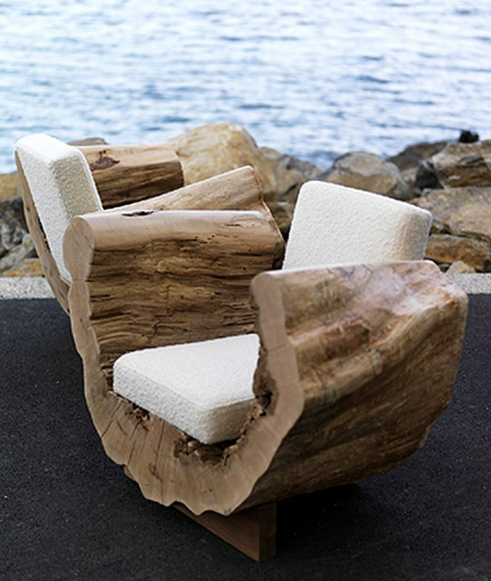 gartenmöbel set holz sessel aus naturholz