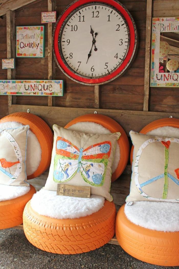 gebrauchte autoreifen kreativ und nachhaltig. Black Bedroom Furniture Sets. Home Design Ideas