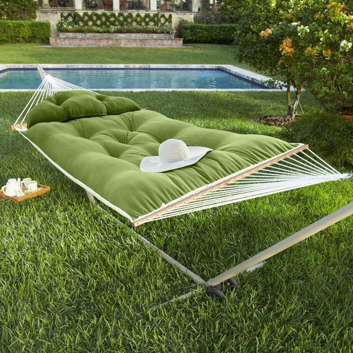 h ngematte mit gestell f r entspannende momente im eigenen. Black Bedroom Furniture Sets. Home Design Ideas