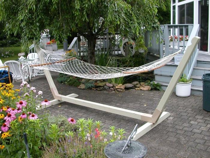 Design Haengematte Fuer Terrasse Und Garten ~ Interieurs Entwerfen ... Hangematten Mit Gestell Garten