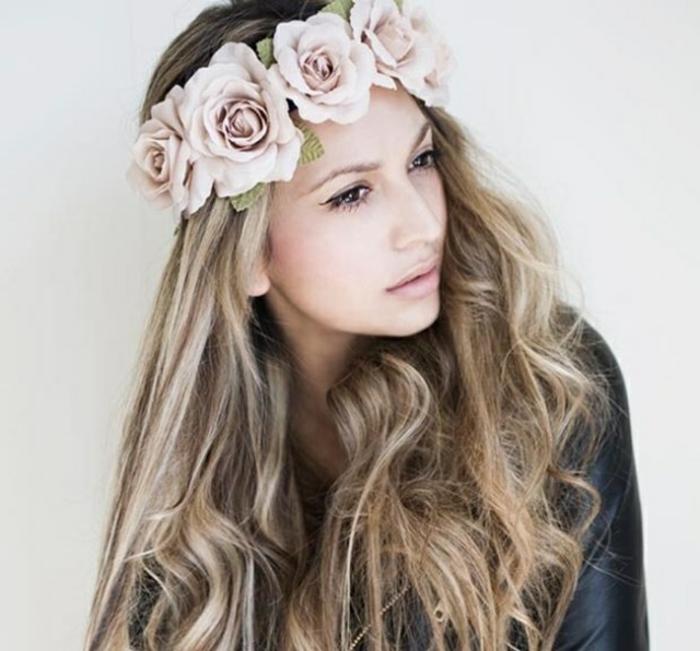 haarband haarreifen rosen langes haar