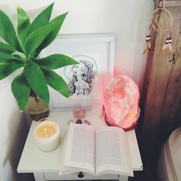 himalayasalz wirkung nachttischlampen zimmerpflanze schlafzimmer