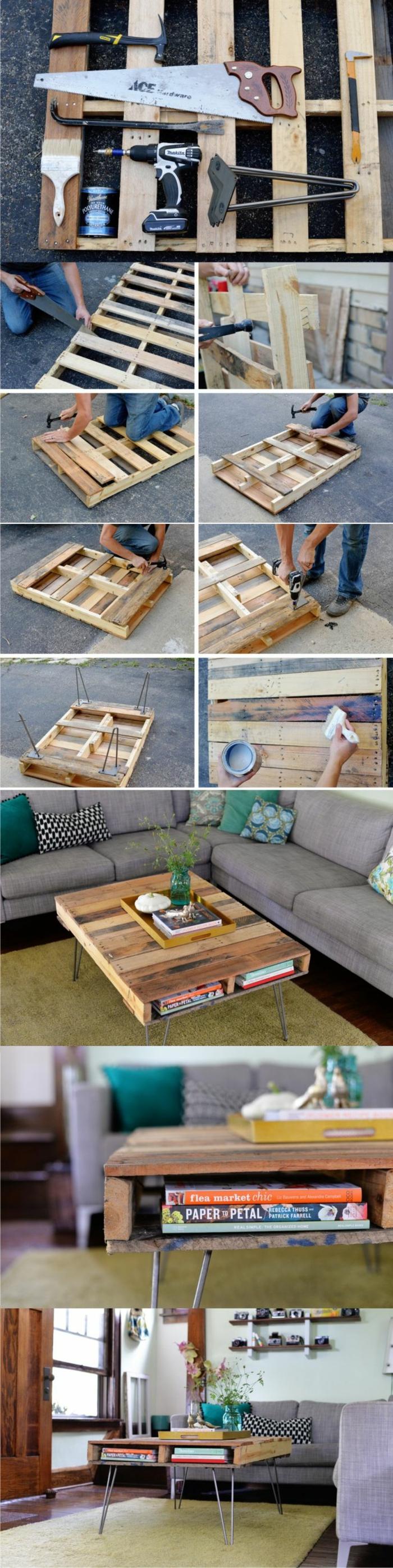 holztische möbel aus paletten holztisch selber bauen anleitung