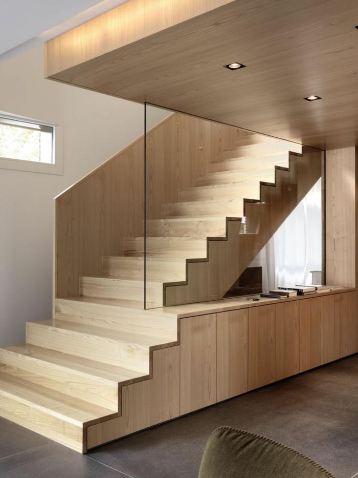 Haustreppen Renovieren Ausgefallene Holztreppen Glcheibe