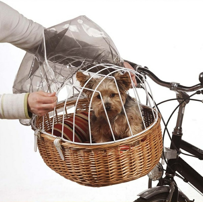 hundekorb fahrrad gesichert haustiere accessoires