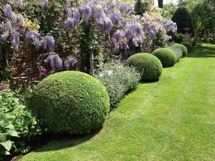 immergrüne pflanzen Buchsbaumstrauch topiary kunst