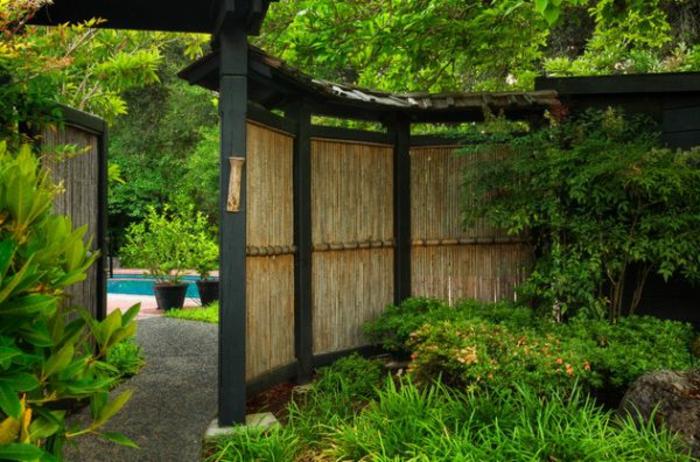 japanischer garten bambus garten sichtschutz japanischer stil