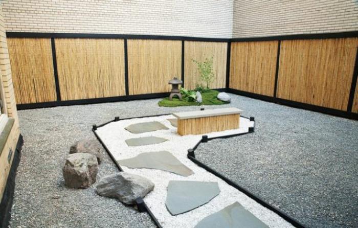 japanischer garten gartengestaltung mit kies und stein japanischer stil