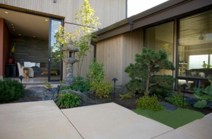 Japanischer Garten Modern Gartengestaltung Innenhof Japanischer Stil