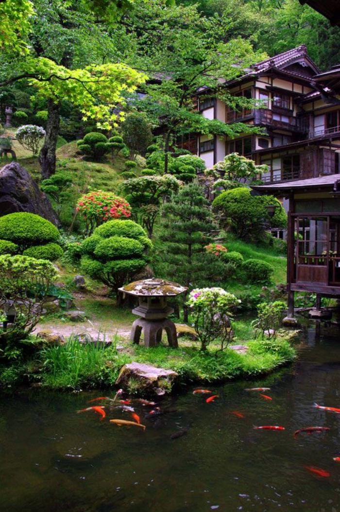 Japanischer garten inspiration f r eine harmonische for Teich mit fischen