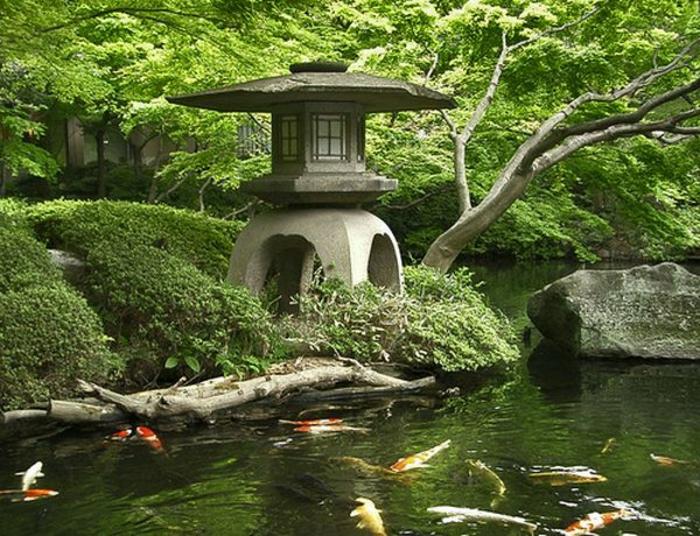 Japanischer garten inspiration f r eine harmonische for Gartenteich mit goldfischen