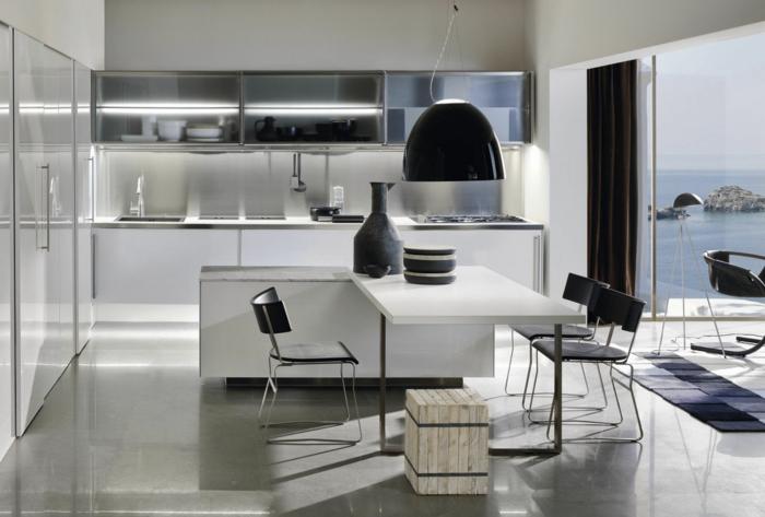 küchenmöbel kaufen elegante küche regale toller esstisch