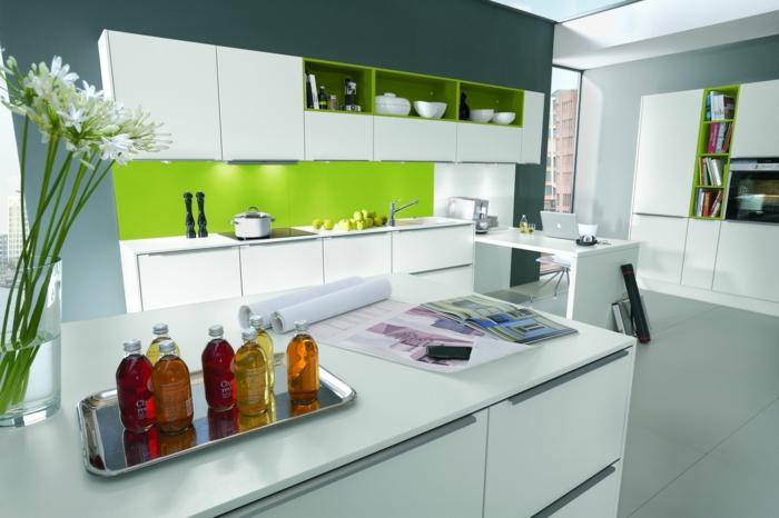 küchenmöbel kaufen kücheninsel grüne küchenrückwand