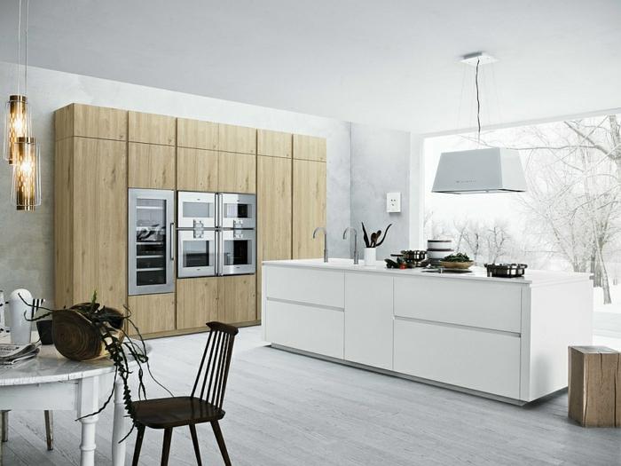 küchenmöbel kaufen rustikale elemente pendelleuchten