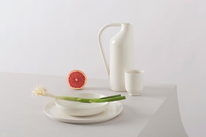 küchenzubehör designer geschirr porzellan weiß