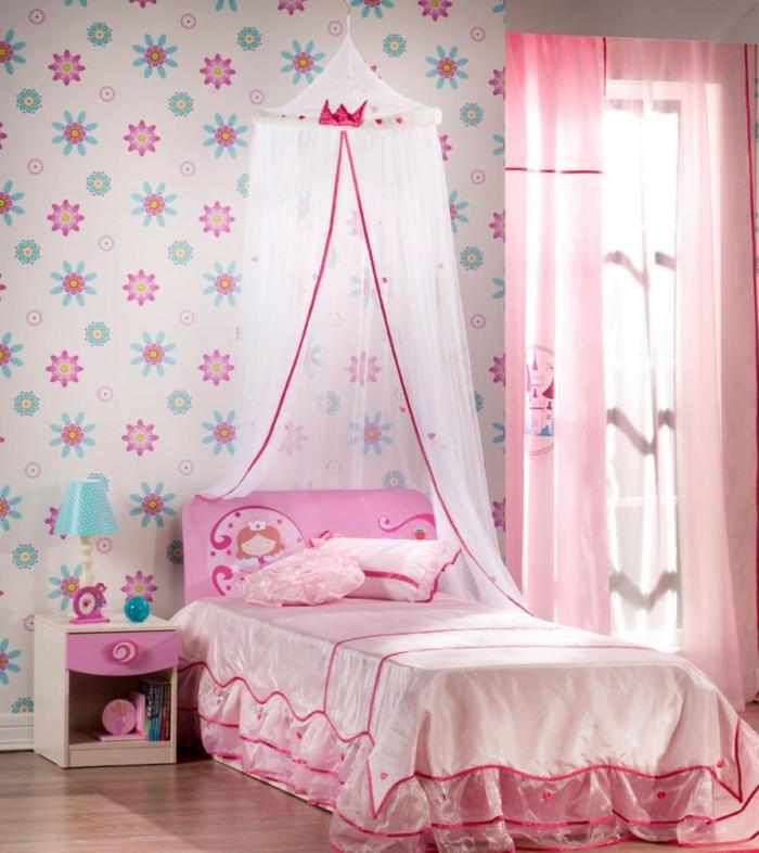 kinderzimmer wandgestaltung mädchenzimmer dekorieren wandtapete