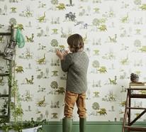 Liebevolle Kinderzimmer Wandgestaltung, welche lustige Stimmung bringt