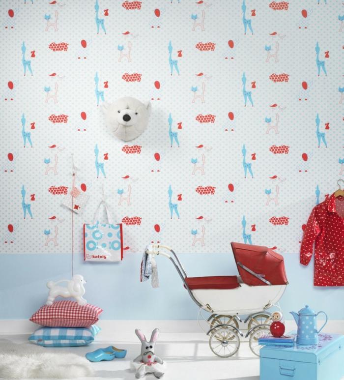 Liebevolle kinderzimmer wandgestaltung welche lustige for Wandtapete muster