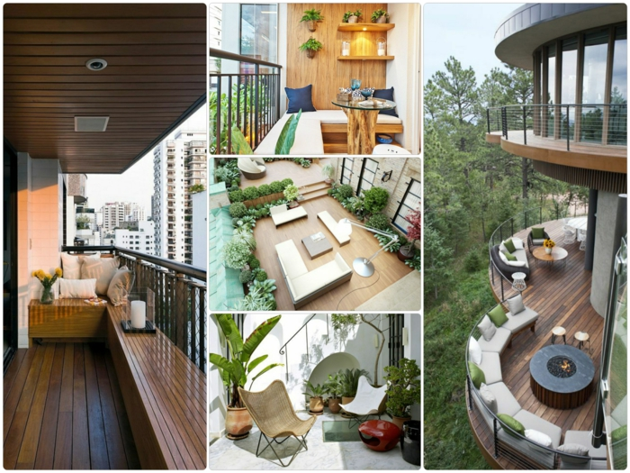 kleine terrasse gestalten ideen außenmöbel topfpflanzen grüne wohlfühloase